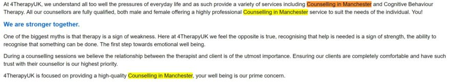 counselling in manchester