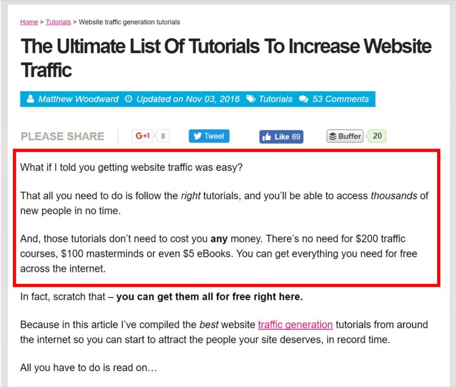 traffic article intro