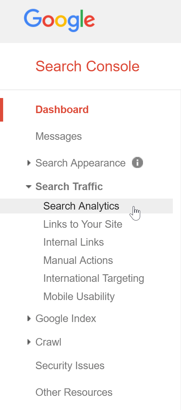 google search analytics