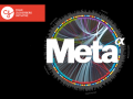 The Meta search engine logo, with the Chan Zuckerberg initiative logo in the corner.