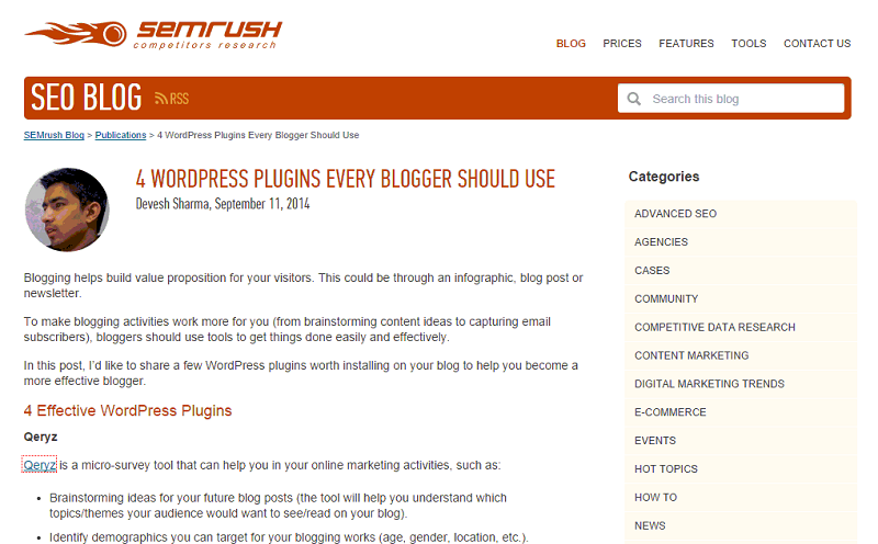 semrush post