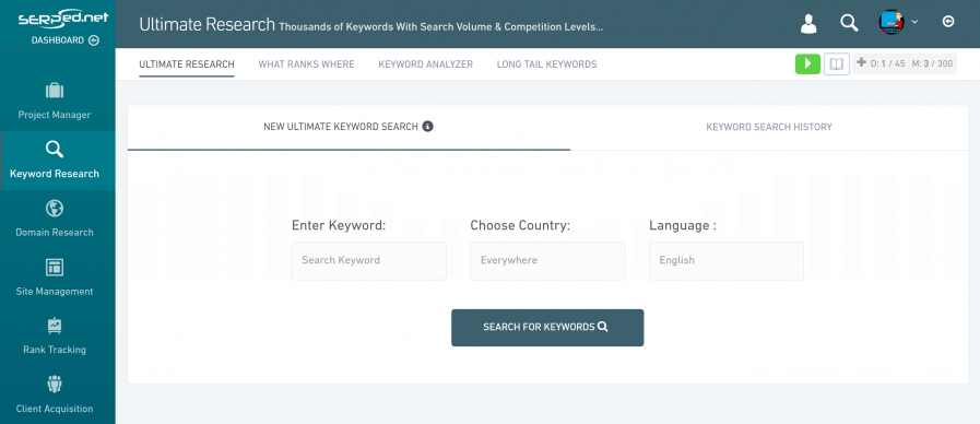 serped keyword tool