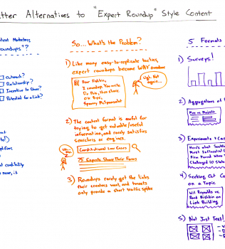 "Better Alternatives to ""Expert Roundup""-Style Content – Whiteboard Friday"